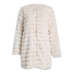 Indulgence - Cream long fluffy coat