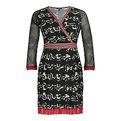 Samya - Multicoloured long sleeve abstract print dress