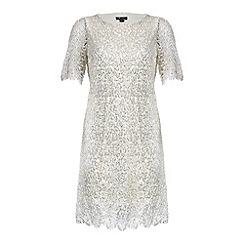 Cutie - Silver loose fit lace dress