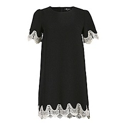 Cutie - Black lace trim dress