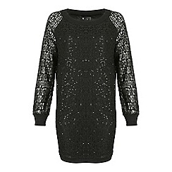 Cutie - Black sequined lace dress