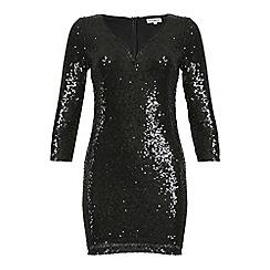 Alice & You - Black sequin midi bodycon dress