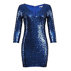 Alice & You - Blue sequin midi bodycon dress