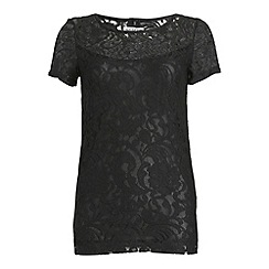 Alice & You - Tall Black lace layer tee