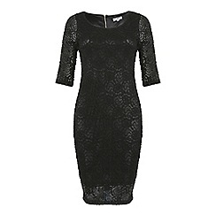 Alice & You - Petite Black lace layer midi dress