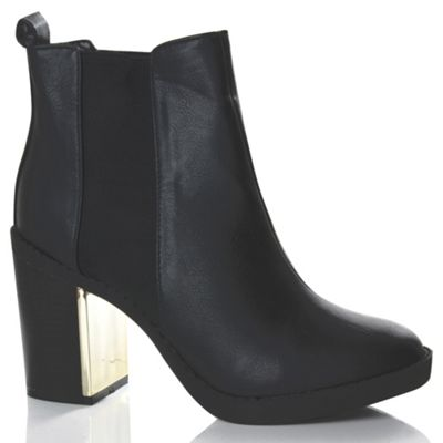 Alice & You Black plated heeled chelsea boot - . -