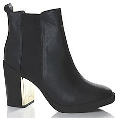 Alice & You - Black plated heeled chelsea boot