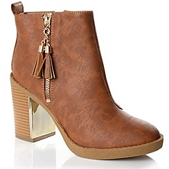 Alice & You - Tan tassle detail chelsea boot