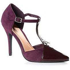 Alice & You - Plum t-bar strap contrast heels