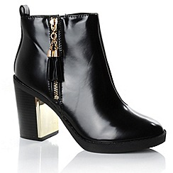 Alice & You - Black tassle detail chelsea boot