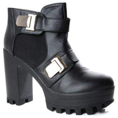 Alice & You Black platform chelsea heel boot - . -