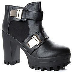 Alice & You - Black platform chelsea heel boot