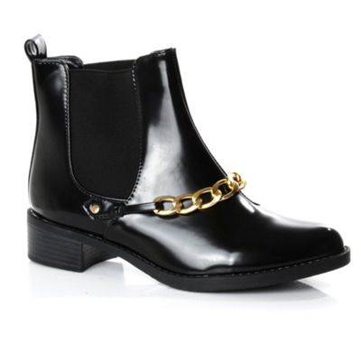Alice & You Black chain detail ankle boot - . -