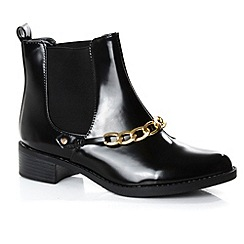 Alice & You - Black chain detail ankle boot