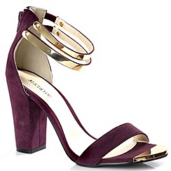 Alice & You - Plum metal trim ankle strap heels