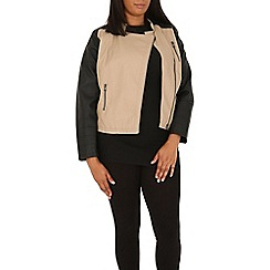 Samya - Beige long sleeve zipped jacket