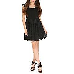 Madam Rage - Black ribbon lace dress