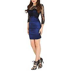 Madam Rage - Multicoloured lace overlay bodycon
