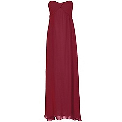 Alice & You - Tall Maroon ruched bandeau maxi dress