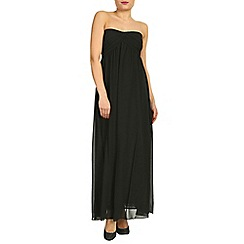Alice & You - Petite Black ruched bandeau maxi dress