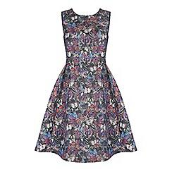Jolie Moi - Purple butterfly print fit & flare dress