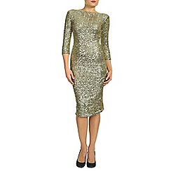 Alice & You - Gold sleeved sequin dress