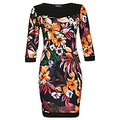Indulgence - Cream floral midi dress