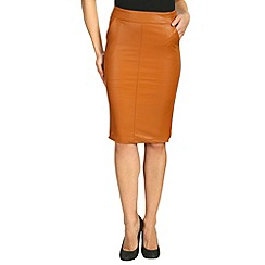 Alice & You - Tan pu pencil skirt