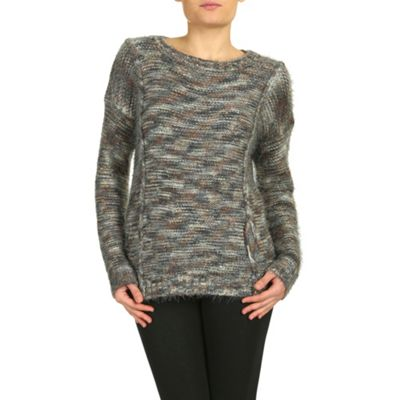 Amaya Grey jumper with pin tuck details - S/M. -