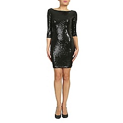 Alice & You - Black sleeved sequin bodycon dress