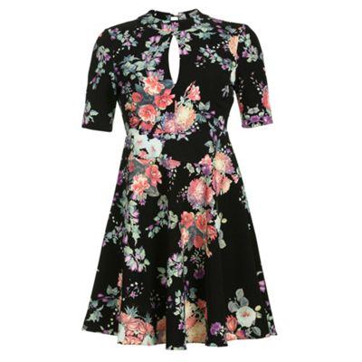 Alice & You Black cut out back skater dress - . -