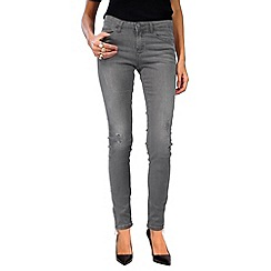 Jailbird - Dark grey rip detail jeans