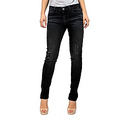 Jailbird - Black rip detail jeans