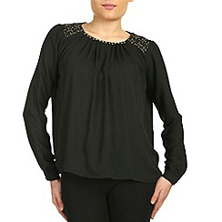 Cutie - Black gold studded top