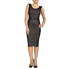 Jolie Moi - Black colour block panelled bodycon dress