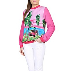 Ruby Rocks - Pink ruby crew top