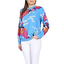 Ruby Rocks - Light blue ruby crew top