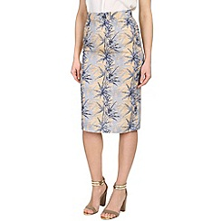 Ruby Rocks - Blue pencil skirt