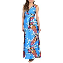 Ruby Rocks - Light blue martini maxi dress