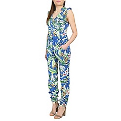 Ruby Rocks - Pale blue jungle jumpsuit