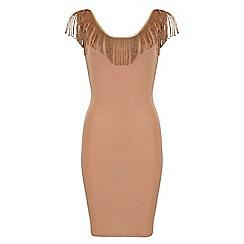 Jumpo London - Gold v back tassle dress