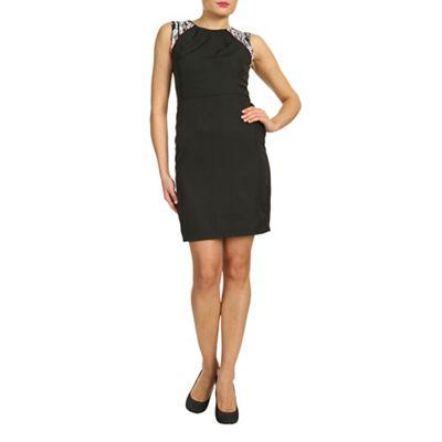 Ayarisa Black estee contrast shoulder shift dress - . -