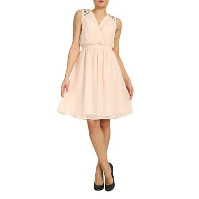 Ayarisa Cream anthea embellished detail grecian dress - . -