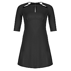 Threads - Black star cut out skater dress