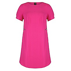 Threads - Pink zip detail shift dress