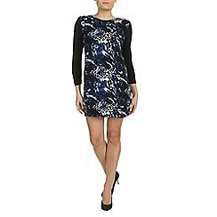 Izabel London - Blue 3/4 sleeves printed tunic