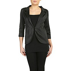 Izabel London - Black front pleated blazer