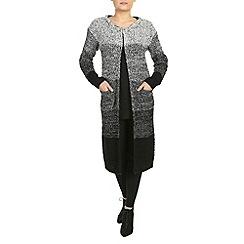 Izabel London - Black long sleeve textured cardigan