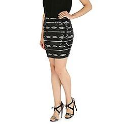 Mandi - Black sequin detailed skirt