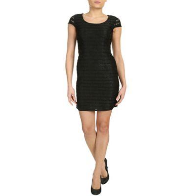 Chase 7 Black cap sleeve dress - . -